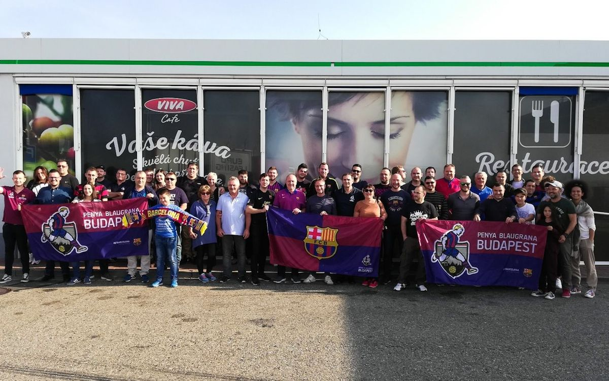 Barça fans in Budapest preparing for a very special occasion