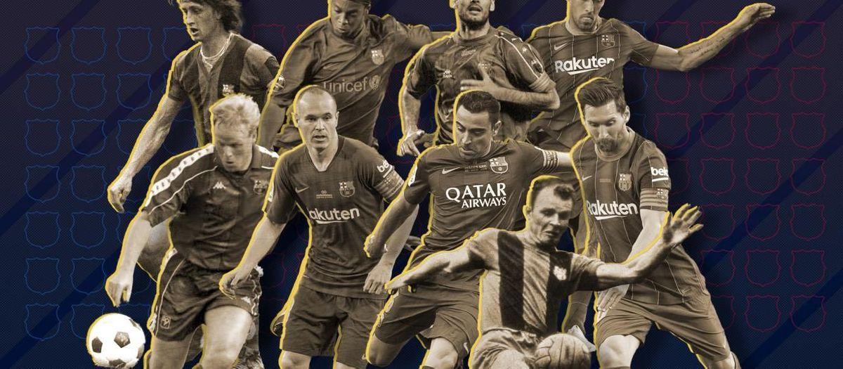 Grande présence des joueurs du Barça pour la 'Ballon d'Or Dream Team'