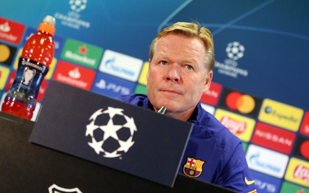 """Koeman: """"El Ferencváros nos puede complicar, tendremos que estar concentrados"""""""