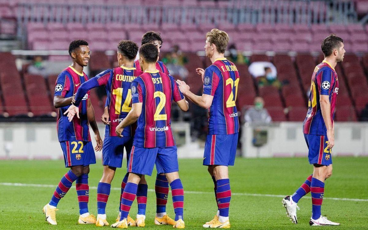 Barça - Ferencváros: La Champions arranca con buen pie (5-1)