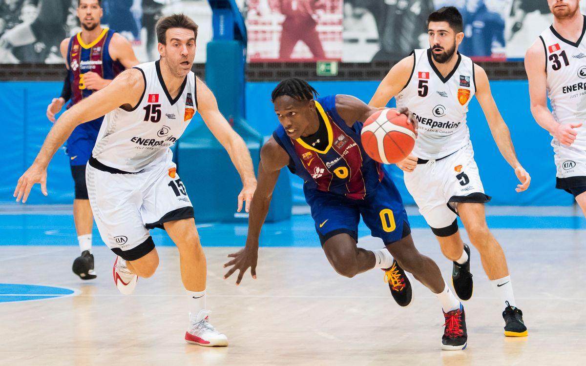 Barça B – Basket Navarra (110-58): Velocidad de crucero