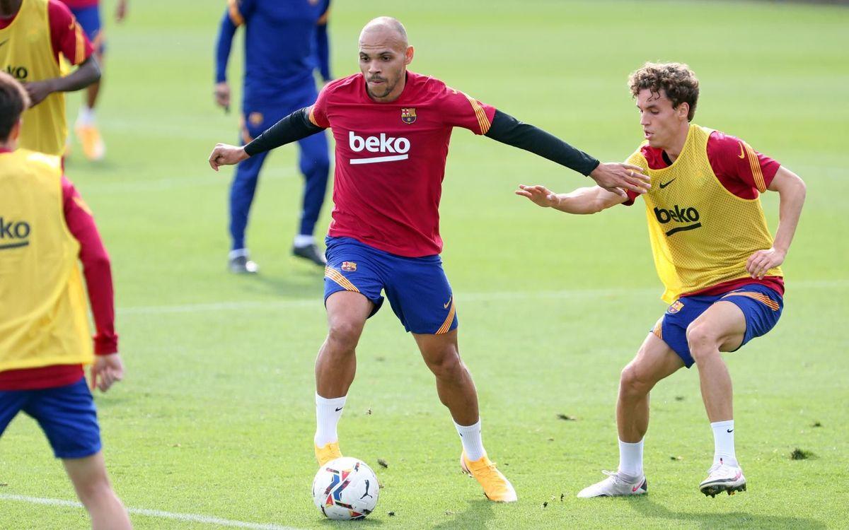 Entrenamiento conjunto con el Barça B