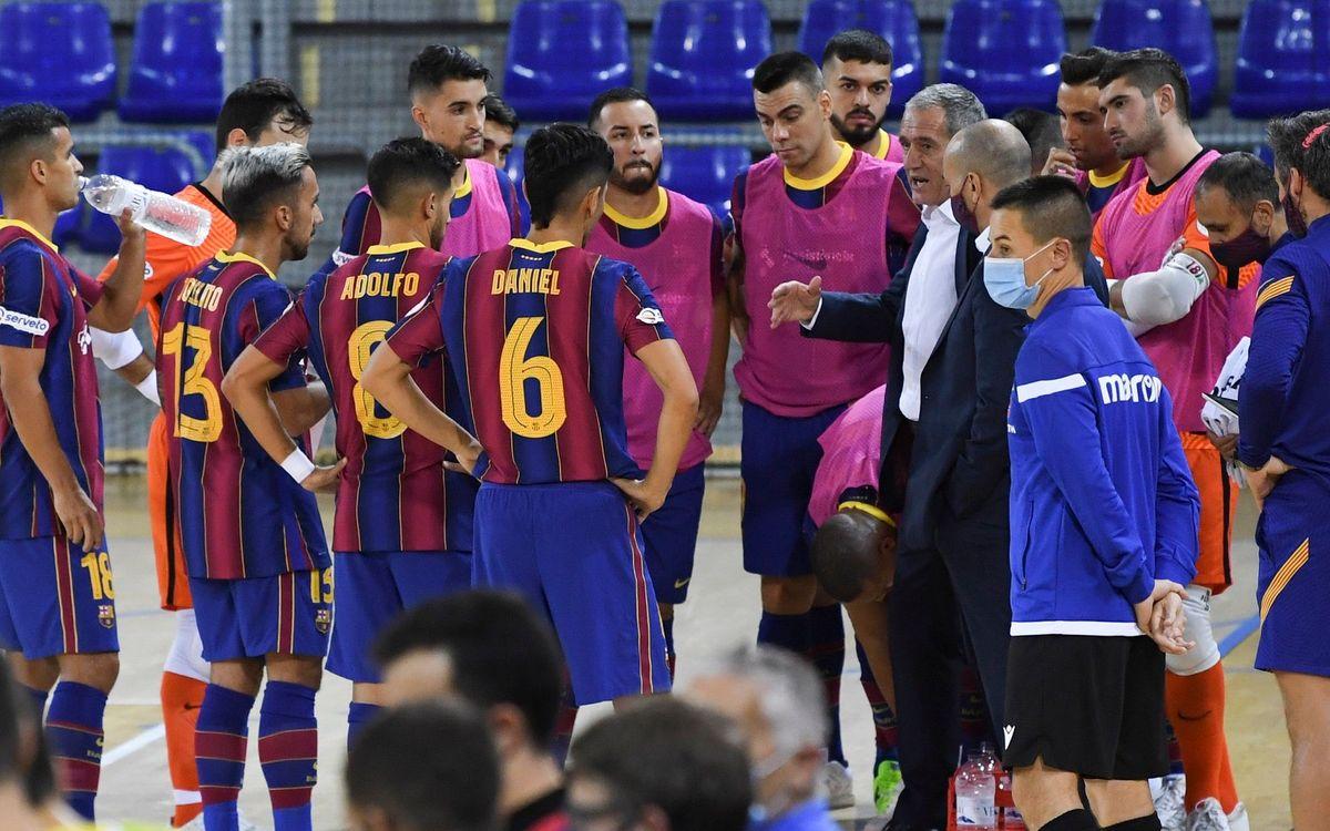 El Barça viajará mañana a Palma sin Plaza, en cuarentena