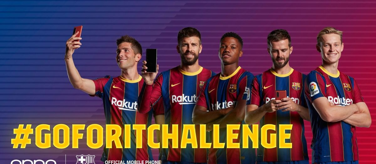 FC Barcelona and OPPO launch a TikTok challenge featuring Piqué, Sergi Roberto, De Jong, Pjanic and Ansu Fati
