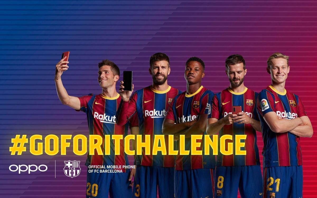 FC Barcelona and OPPO launch a TikTok challenge featuring Piqué, Sergi Roberto, De Jong, Pjanic and Ansu Fati