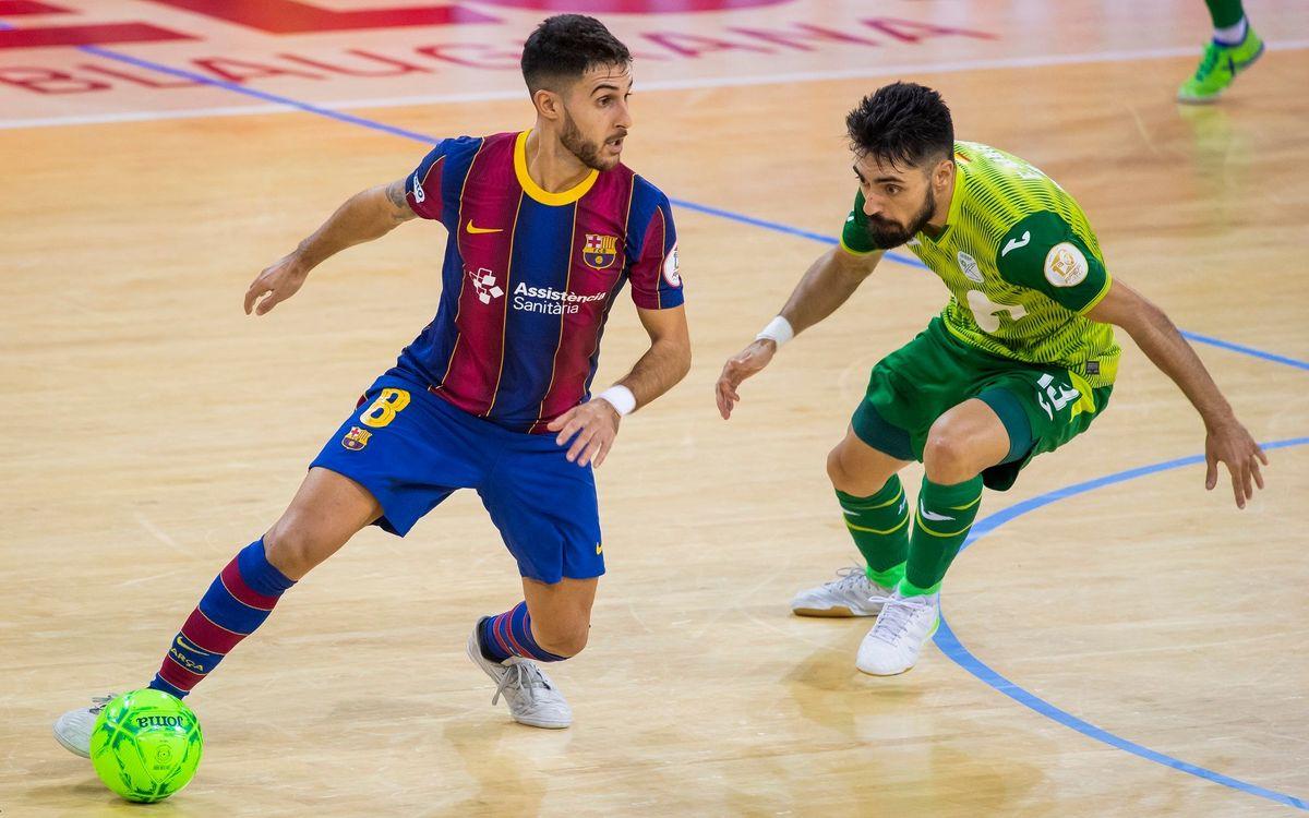 Adolfo, baja de última hora para el partido contra FE Zaragoza