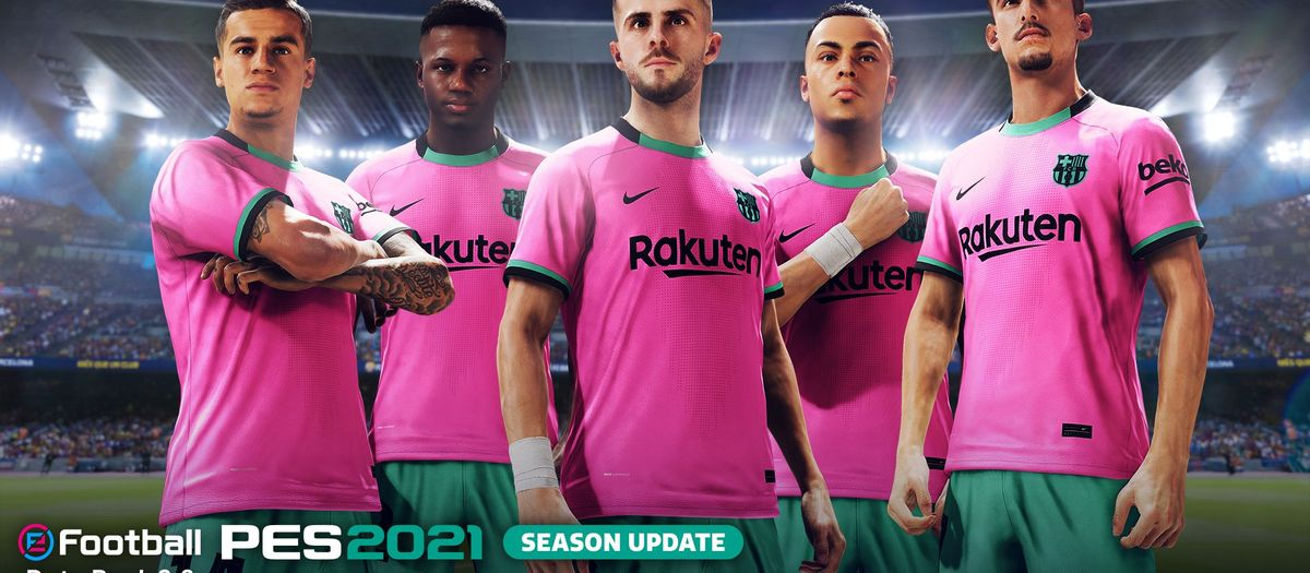 New players and the Barça third kit are now available in PES 2021