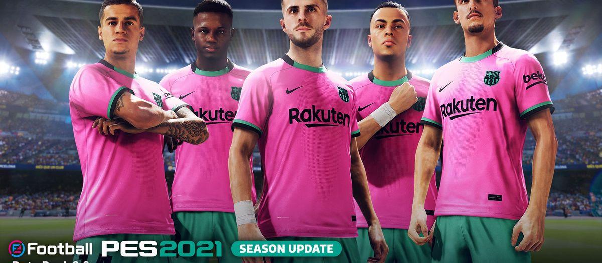 Nous jugadors i la tercera equipació del Barça ja disponibles al PES 2021