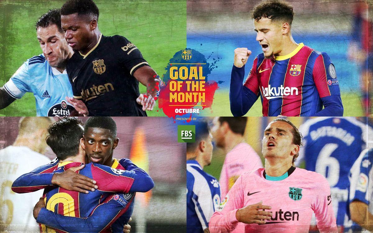Vota por el 'Goal of the Month' del mes de octubre