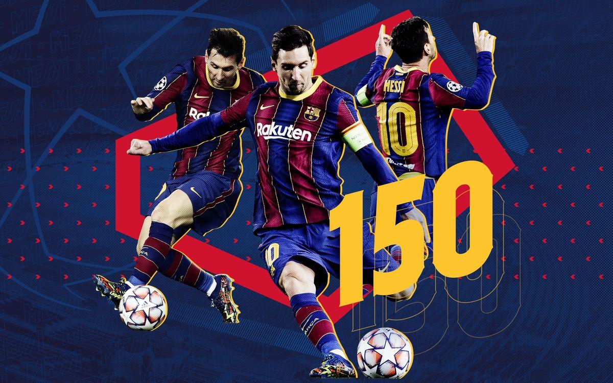 Leo Messi, 150 partidos en competiciones UEFA
