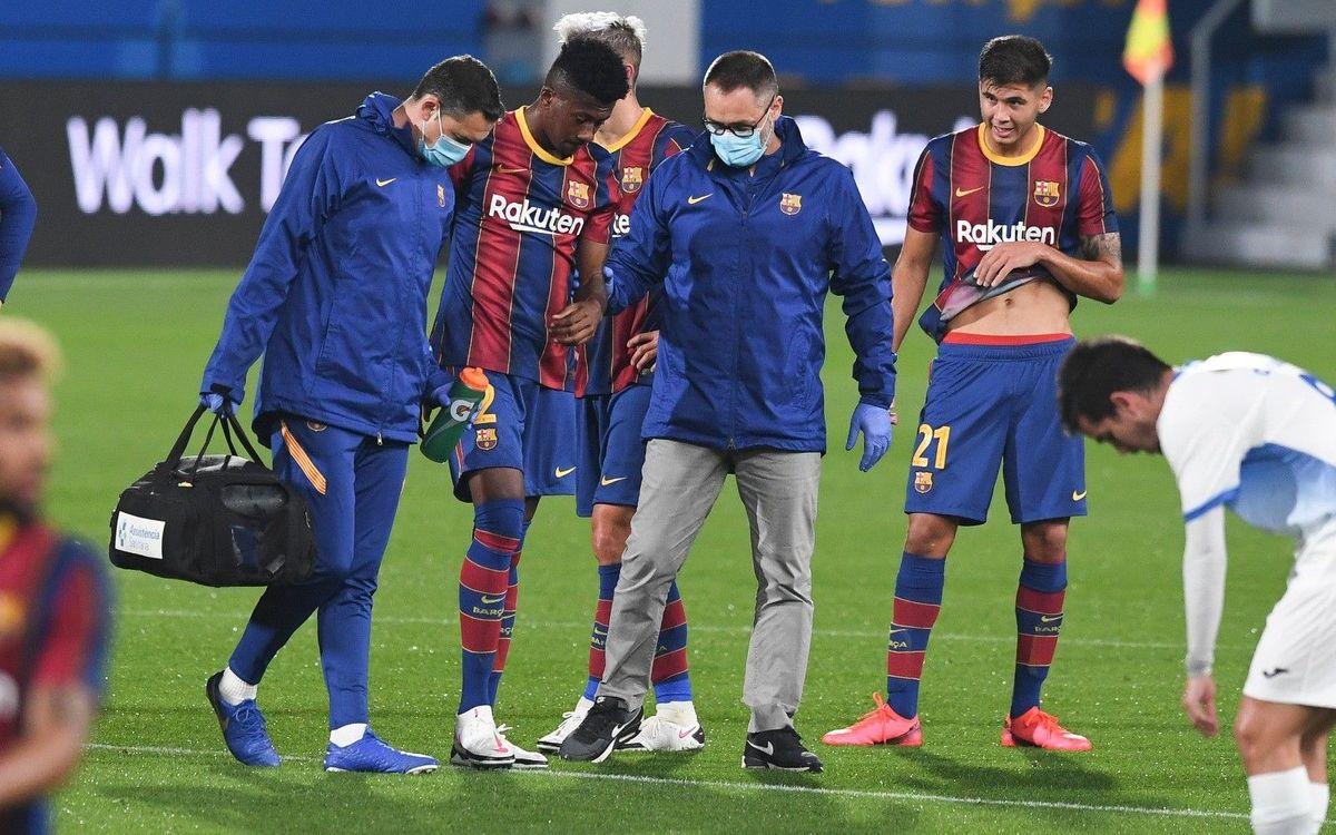 Igor Gomes, con una rotura en el tendón del bíceps femoral del muslo izquierdo