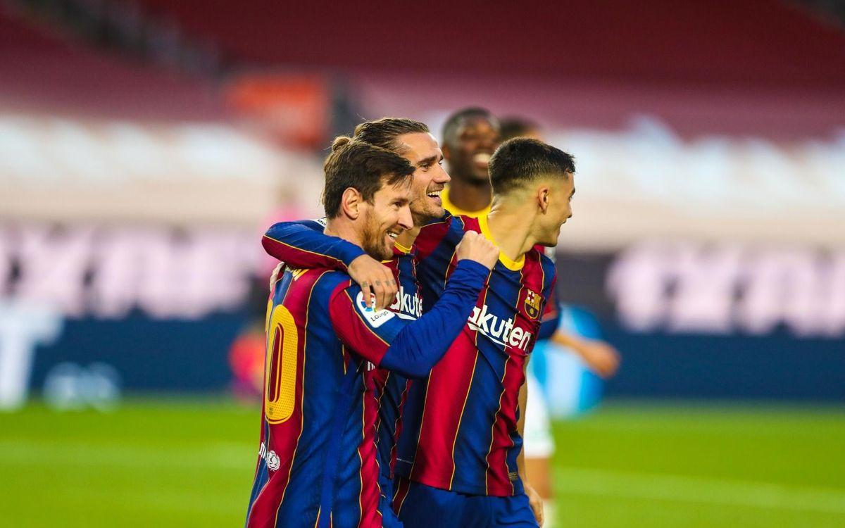 Un Messi estel·lar marca les diferències