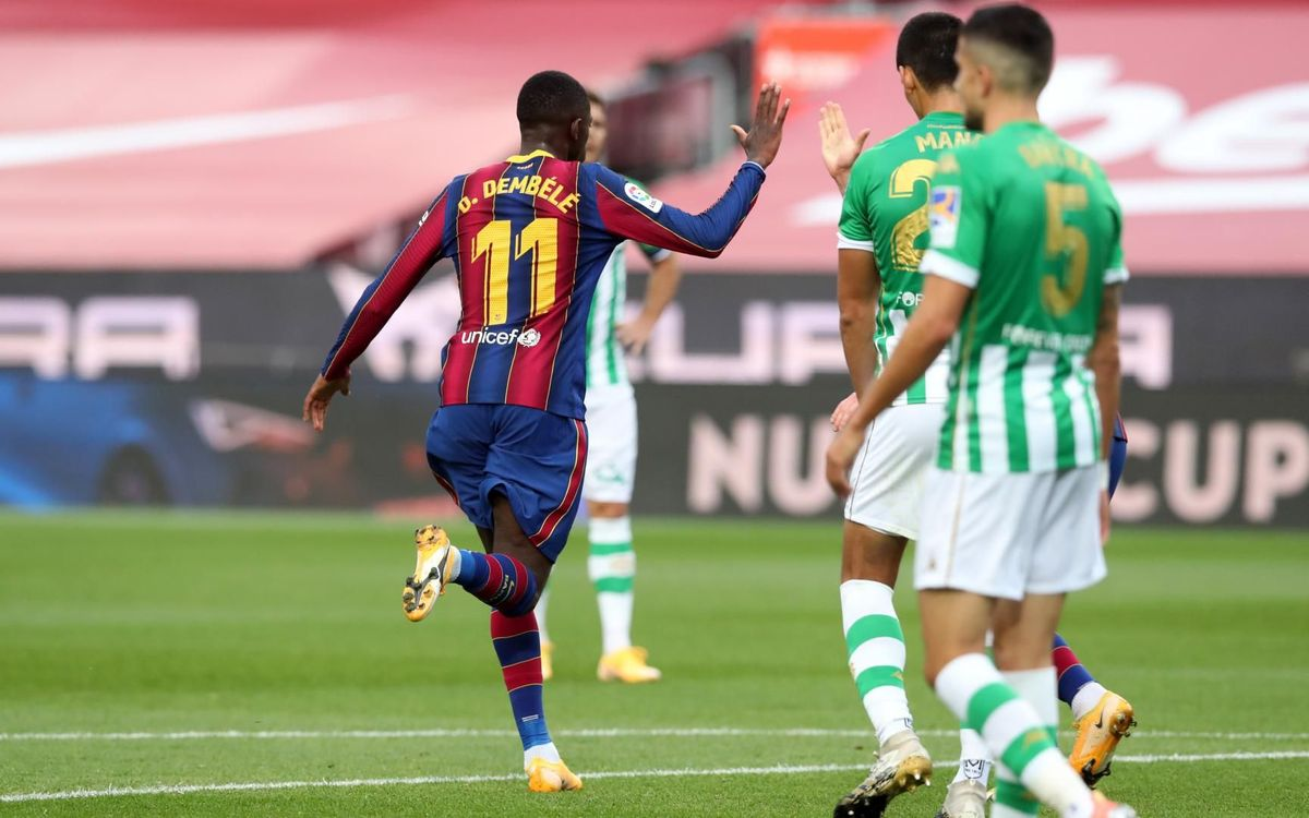 A free-scoring Dembélé