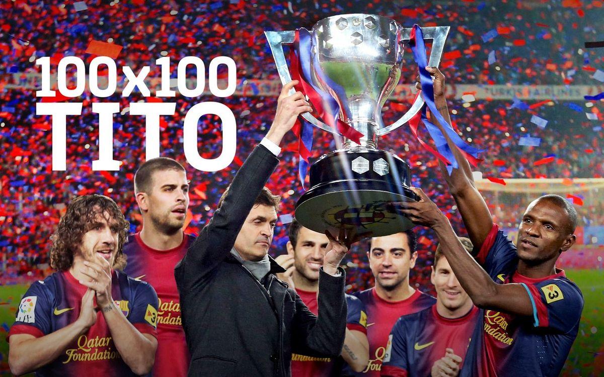 El documental '100x100 Tito' sobre la Liga de los 100 puntos y el adiós de Tito Vilanova se estrena el 29 de diciembre