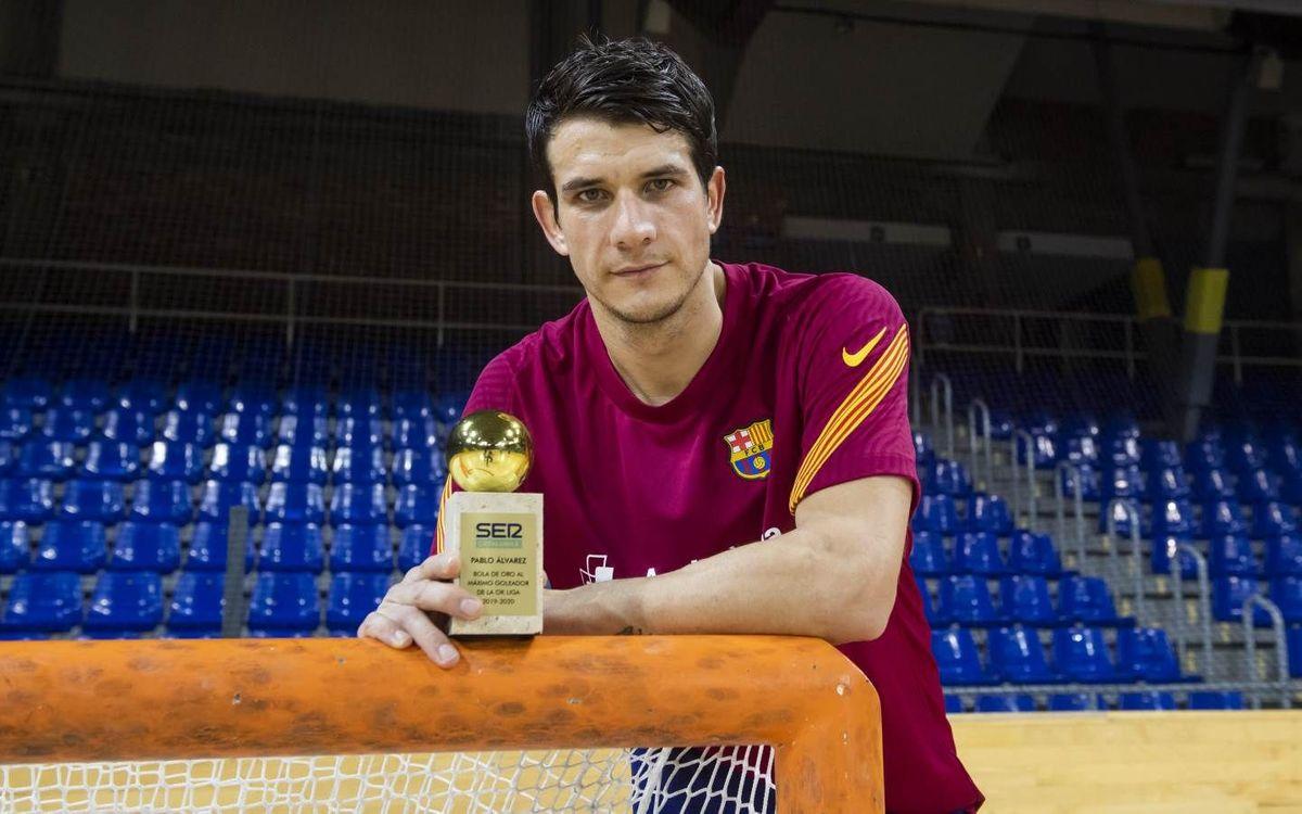 Pablo Álvarez recibe la Bola de Oro 2019/20