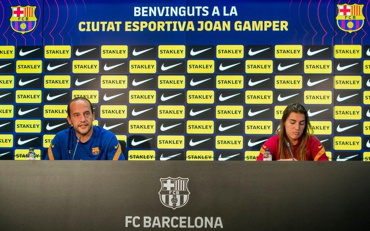 FC Barcelona Femení – Atlético de Madrid: Las declaraciones de Lluís Cortés i Patri Guijarro
