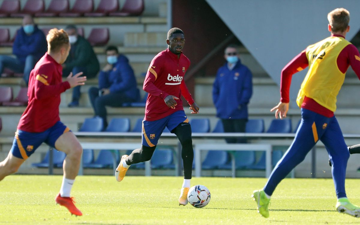 Joint training with the first team and Barça B