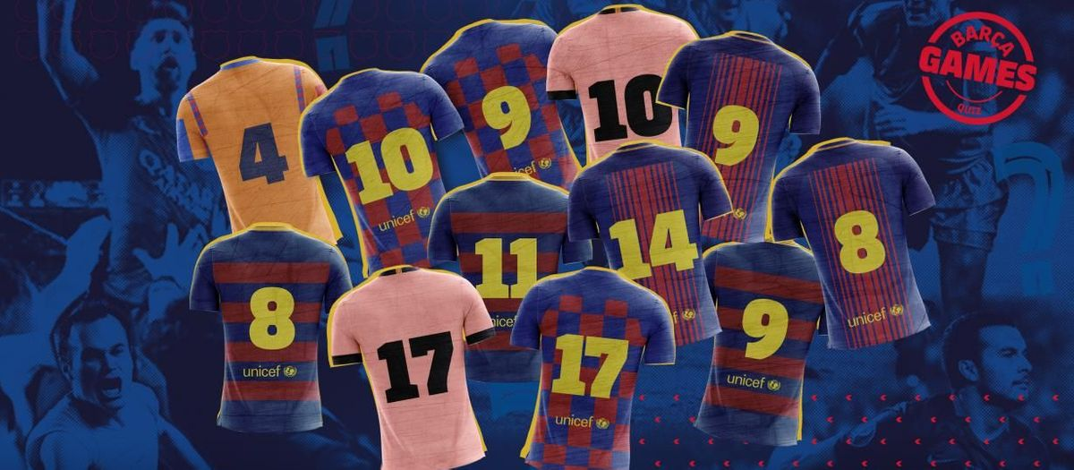 Match the goalscorers' shirt numbers to a classic FC Barcelona game!