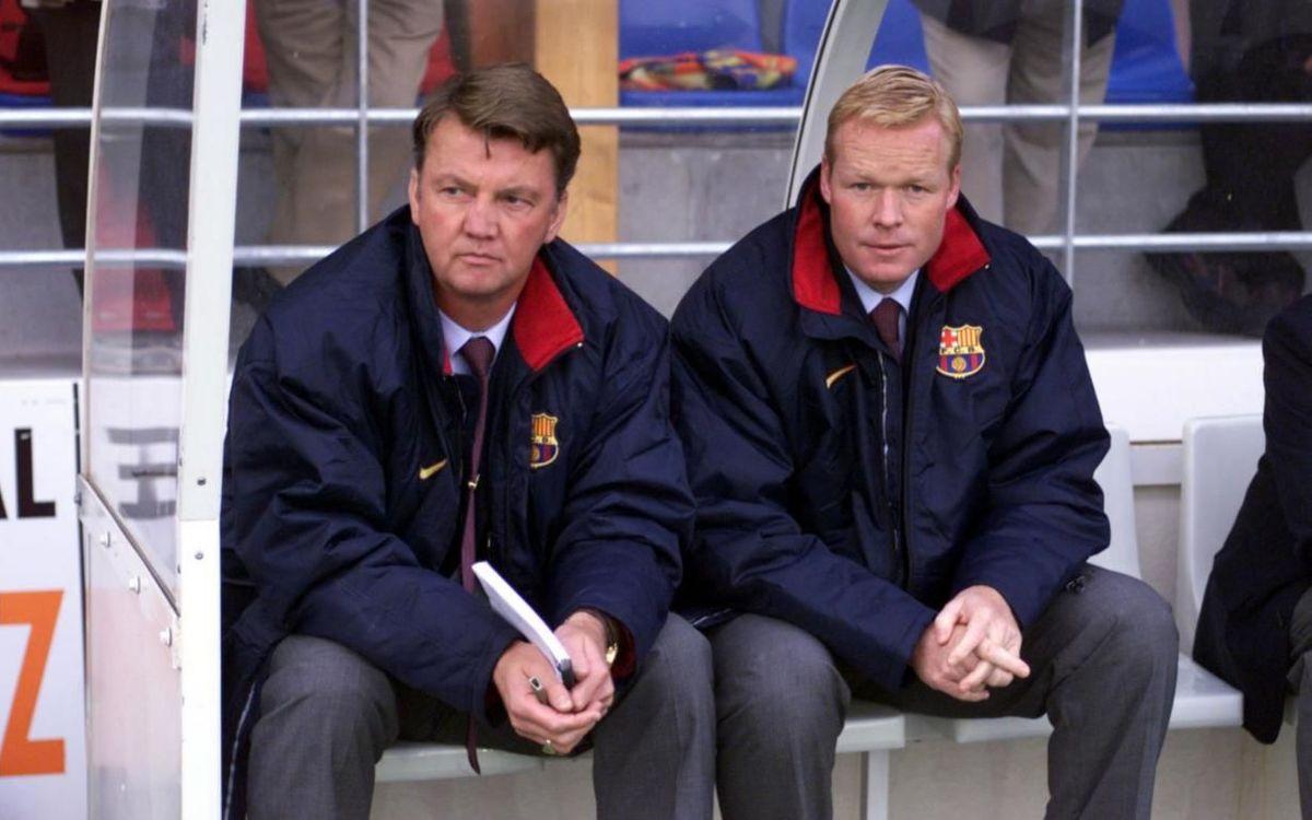 Louis Van Gaal and Ronald Koeman. PHOTO: MIGUEL RUIZ