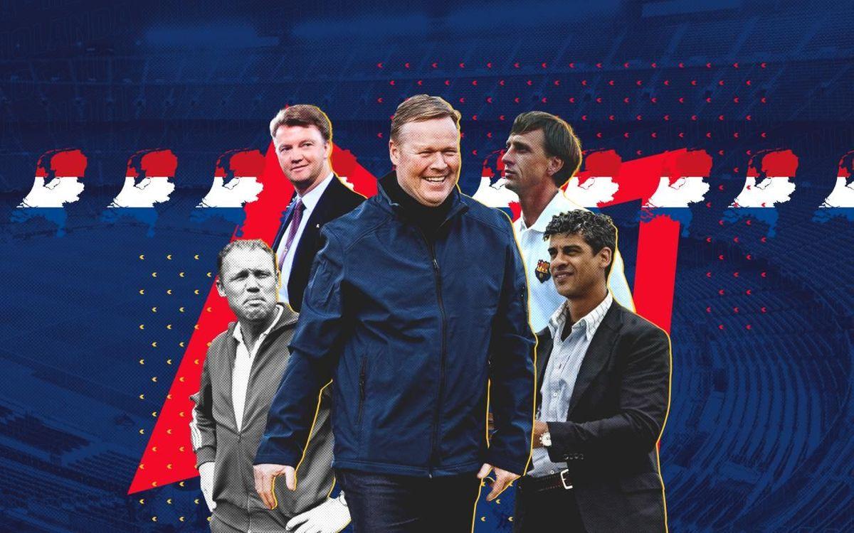 Koeman: hilo conductor de los técnicos holandeses del Barça