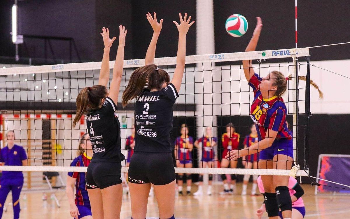 Dos derrotas para los equipos del Barça Voleibol