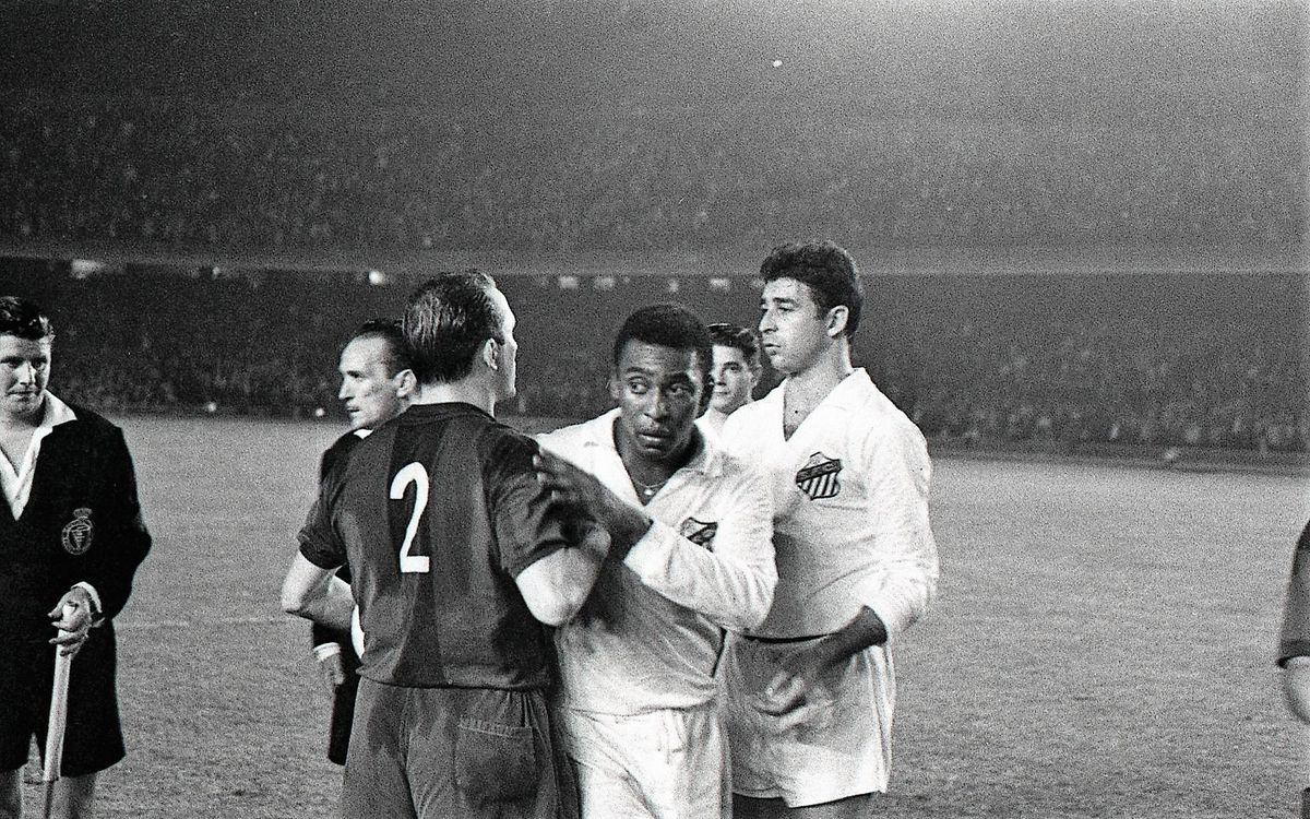 Pelé at Camp Nou