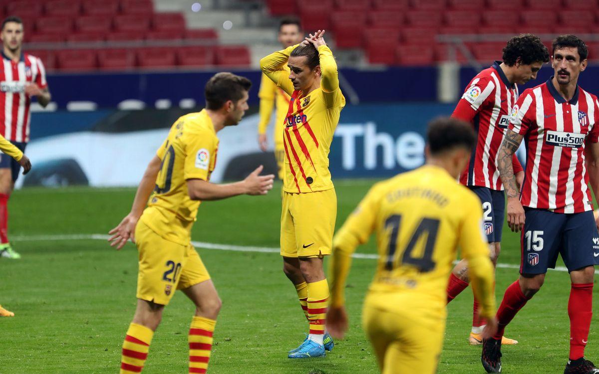 Atlètic de Madrid - Barça: Primera derrota al Wanda Metropolitano (1-0)
