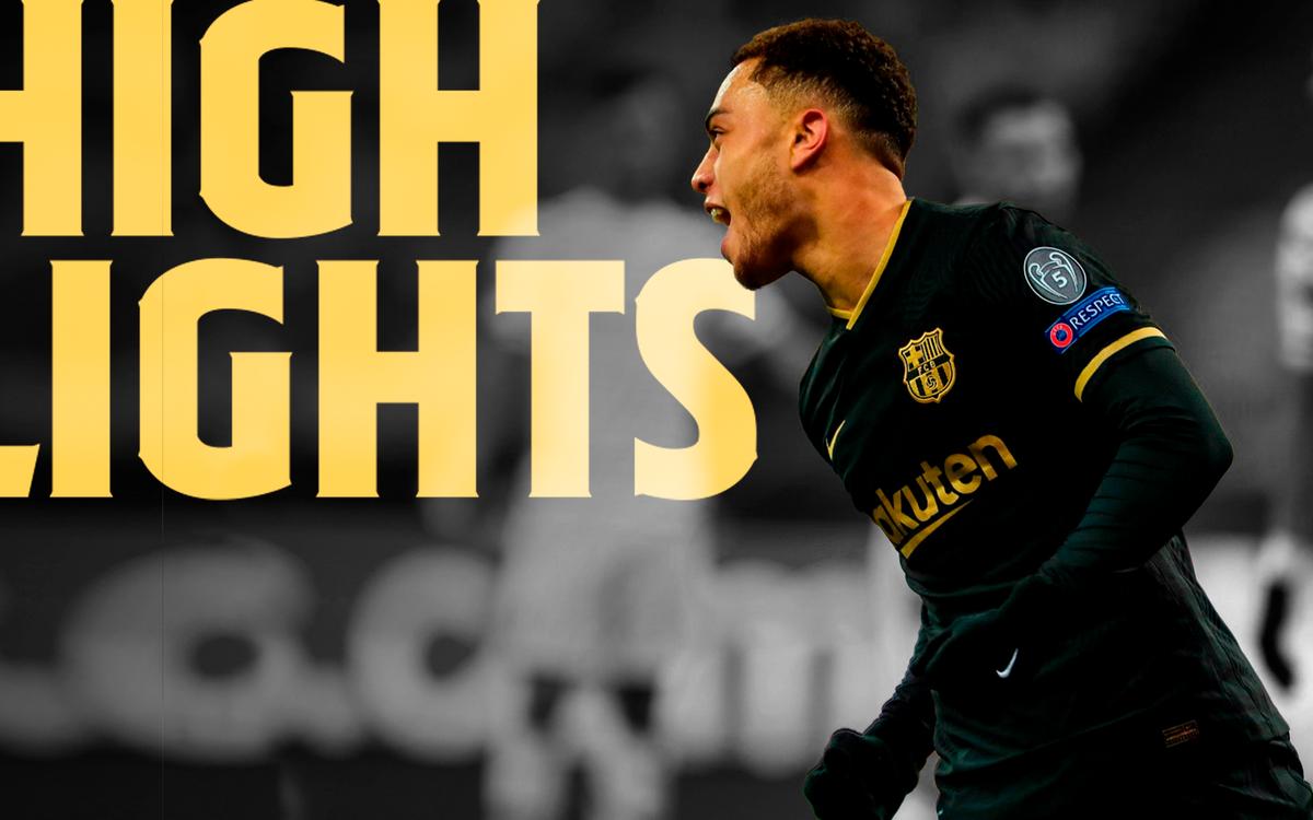 Les moments forts de la large victoire du Barça à Kiev (0-4)