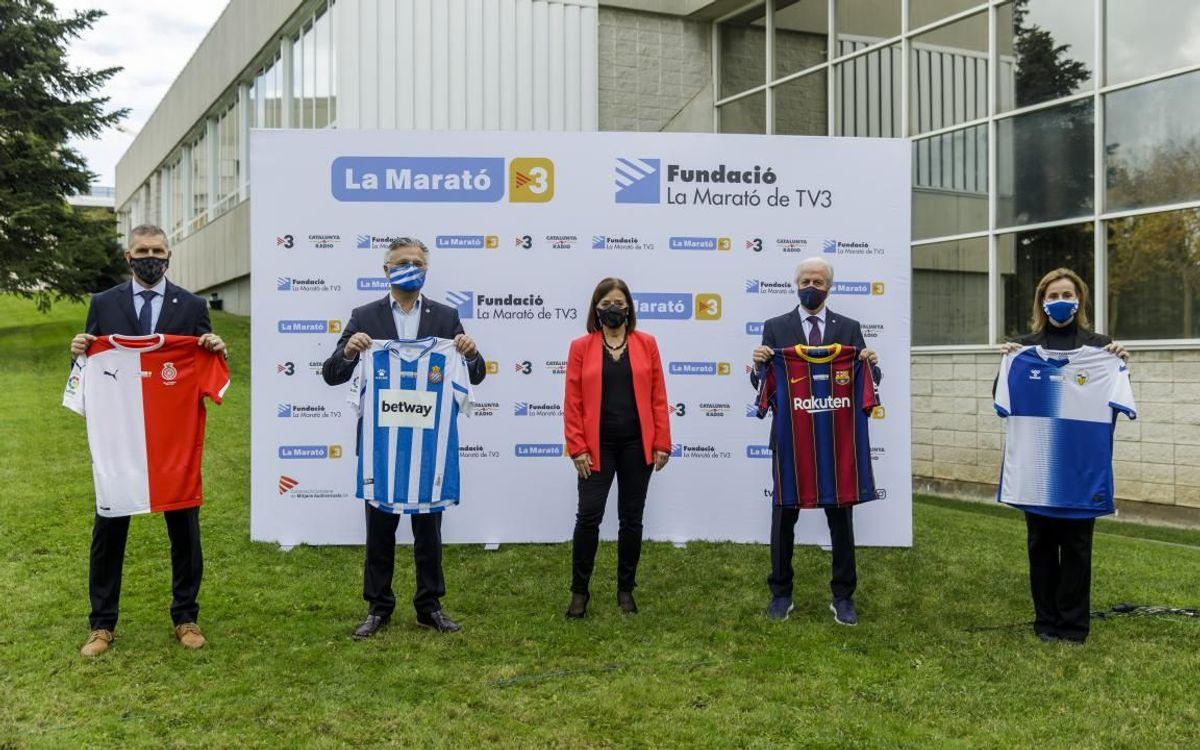 El Barça apoya La Marató de TV3 dedicada a la lucha contra la Covid-19