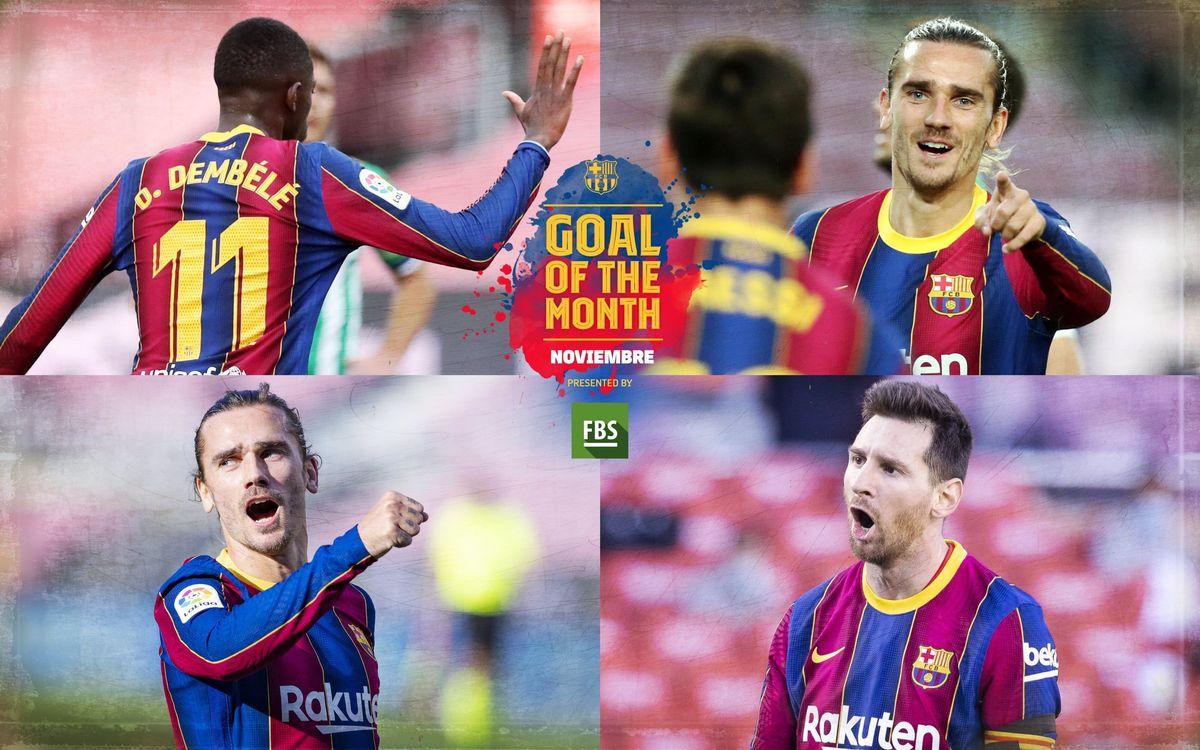 Vota por el 'Goal of the Month' del mes de noviembre