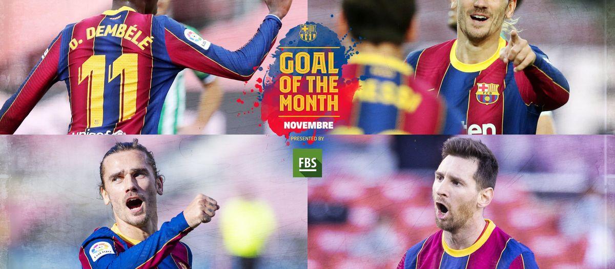 Vota pel 'Goal of the Month' del mes de novembre