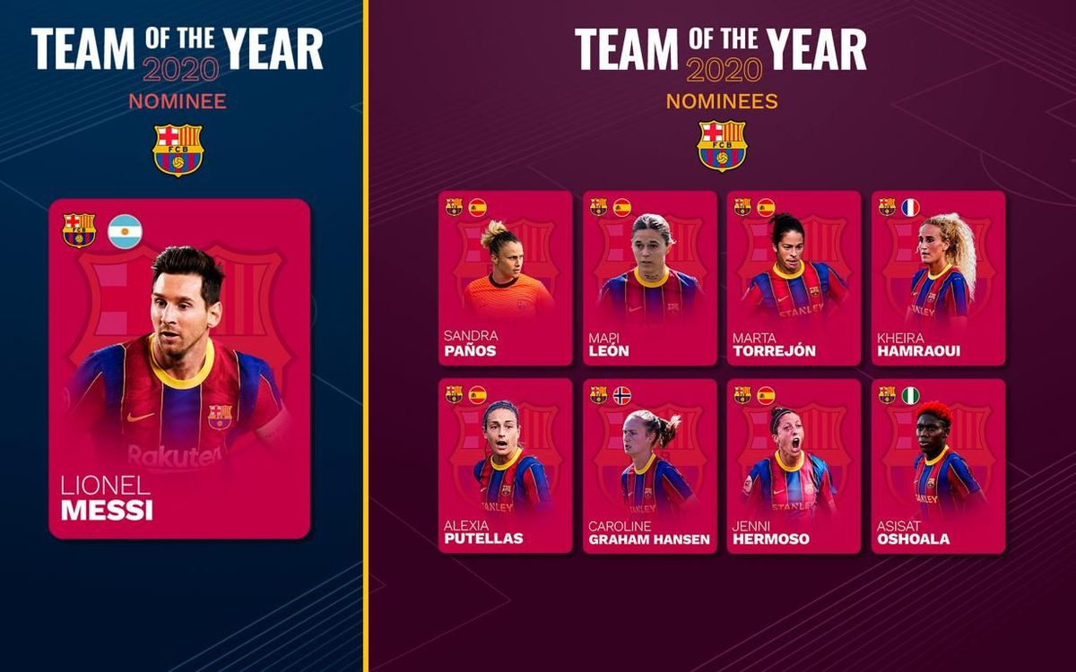 Nine Barça players are candidates for the UEFA Team of the Year