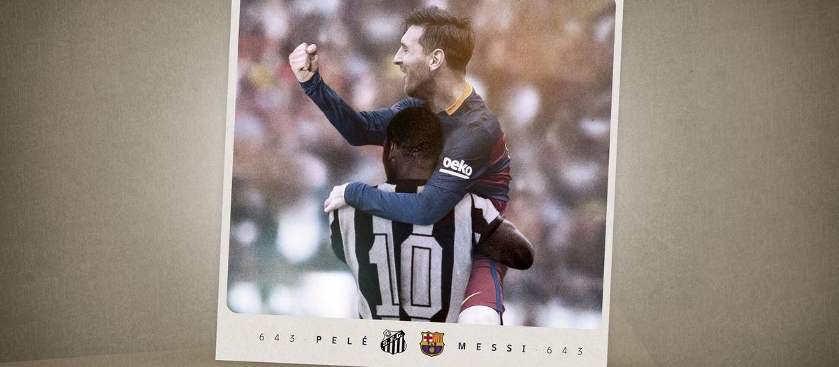 Leo Messi supera a Pelé como máximo goleador de la historia con un mismo club