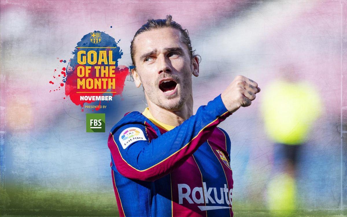 Griezmann's goal against Osasuna, winner of November's 'Goal of the Month'