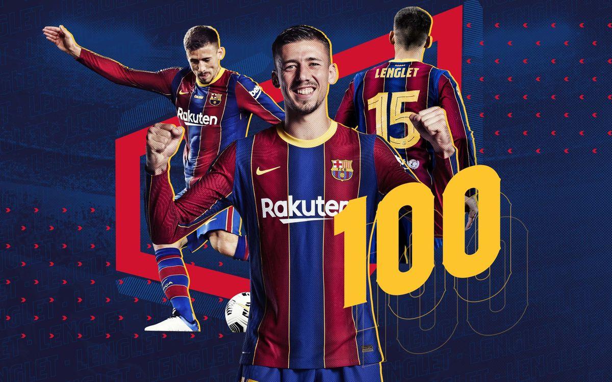 Clément Lenglet dispute son 100ème match avec le Barça