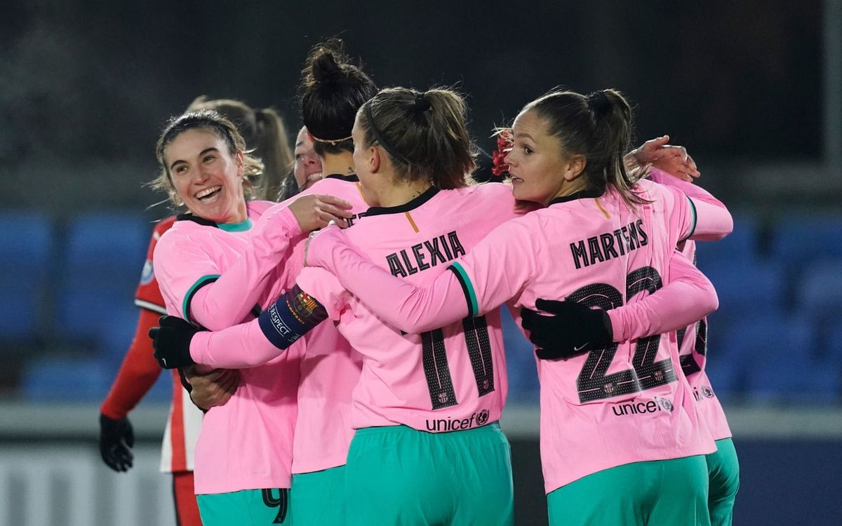 PSV Vrouwen 1–4 FC Barcelona Women: Excellent start