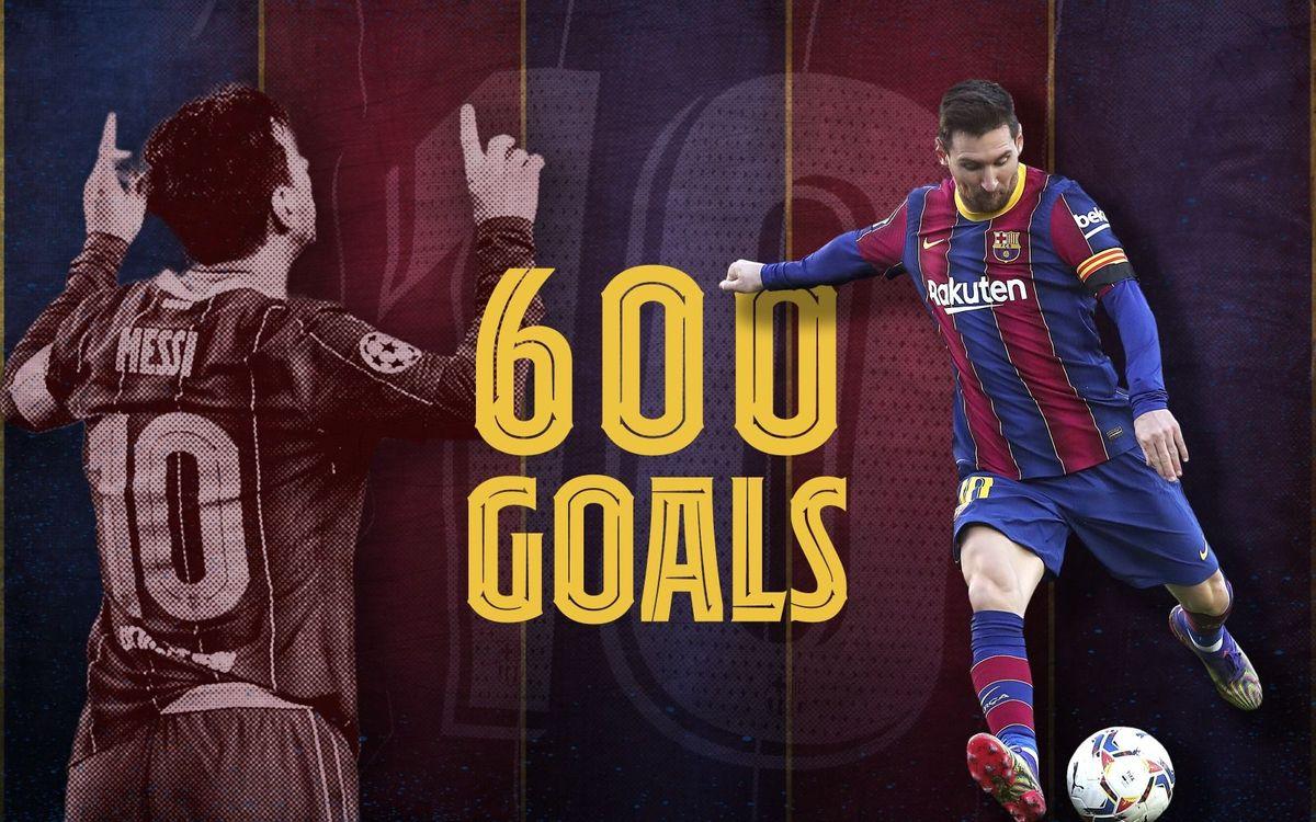 600ème but avec le numéro 10 pour Messi