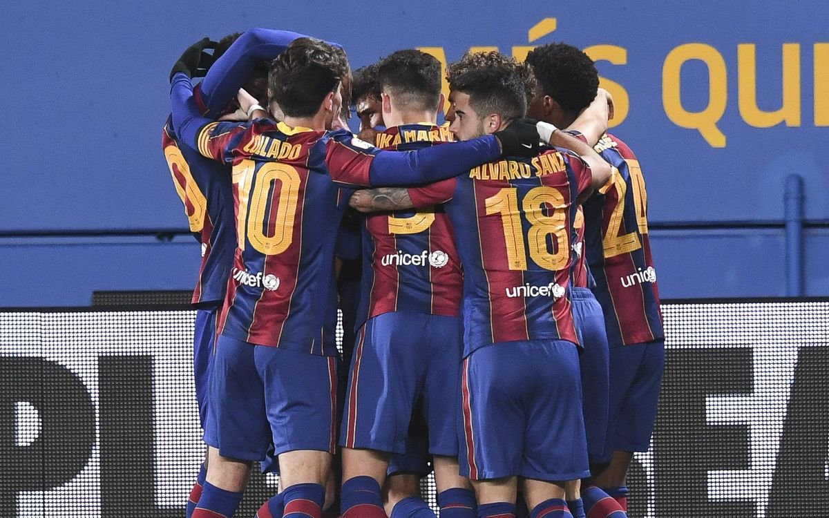 Barça B - Espanyol B: Victoria trabajada en el derbi (2-1)