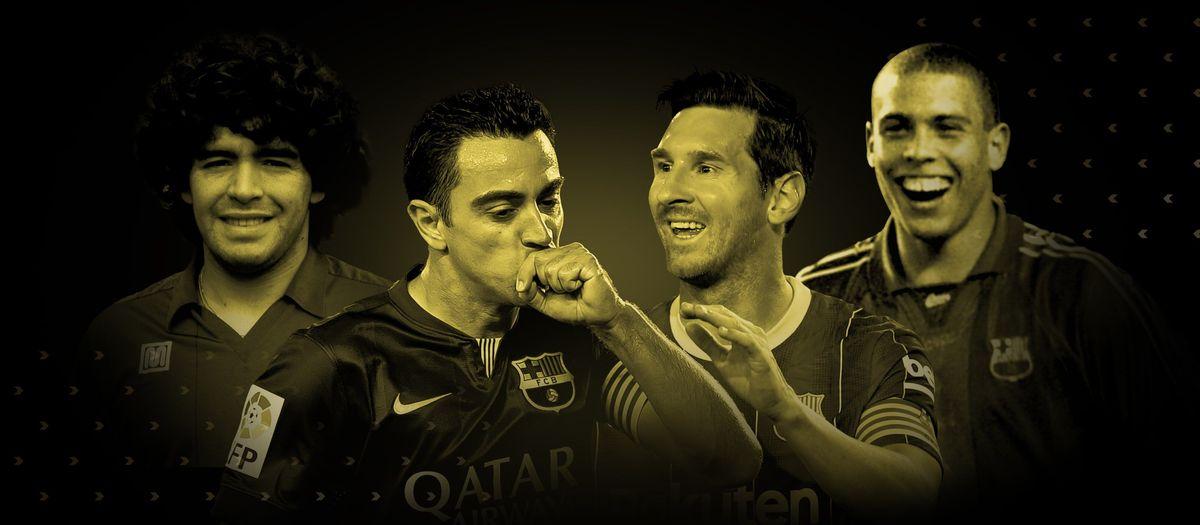 Xavi, Maradona, Messi et Ronaldo, dans la 'Dream Team Ballon d'Or'