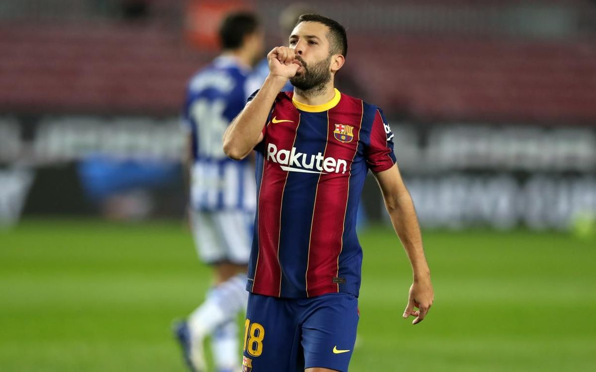 Jordi Alba, the defender with the most goals and assists