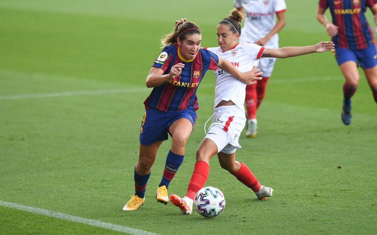 FC Barcelona Femení - Sevilla FC: Último partido del año en el Johan Cruyff