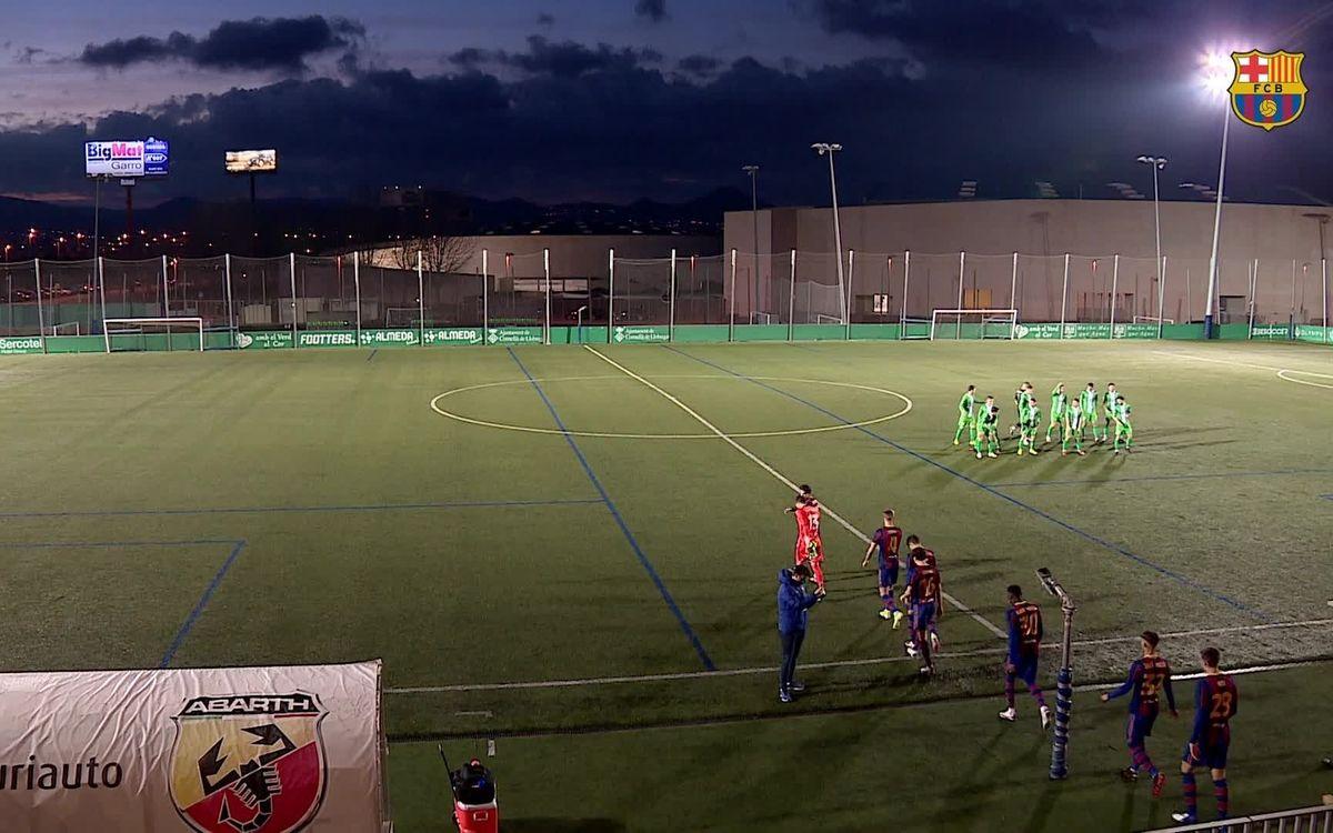 Highlights UE Cornella - Barça B (0-1) J10 2a Divisió B G3 2020/2021