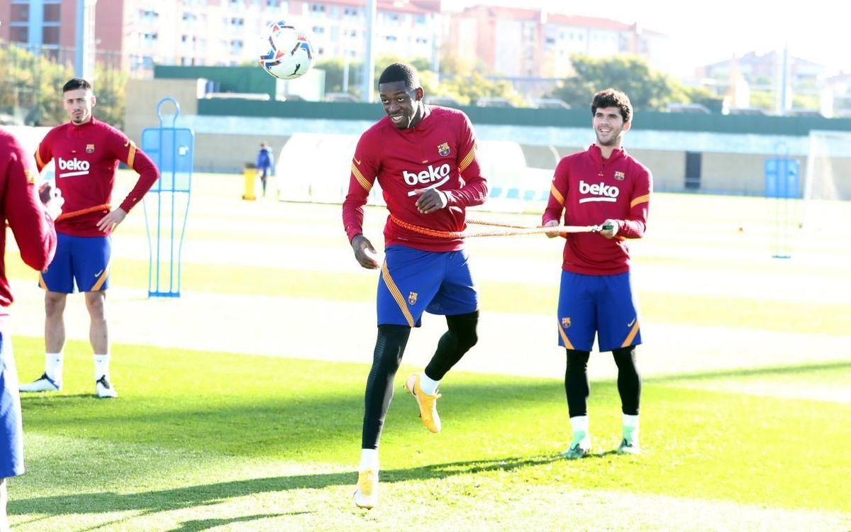 O. Dembélé entrena con el grupo