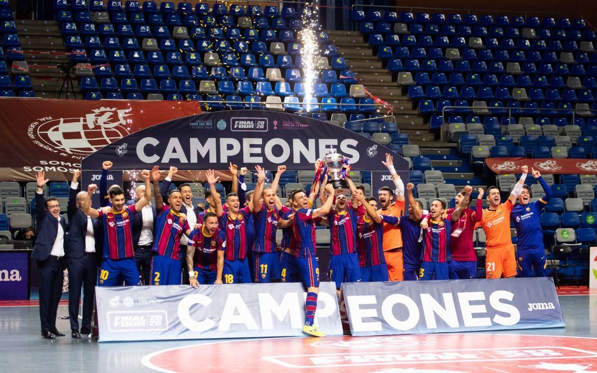 Barça - Jaén: ¡Campeones de Copa! (2-1)
