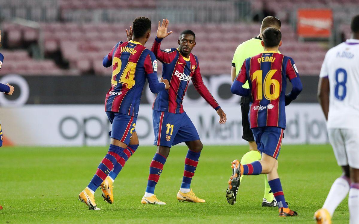 Dembélé continúa enchufado de cara al gol