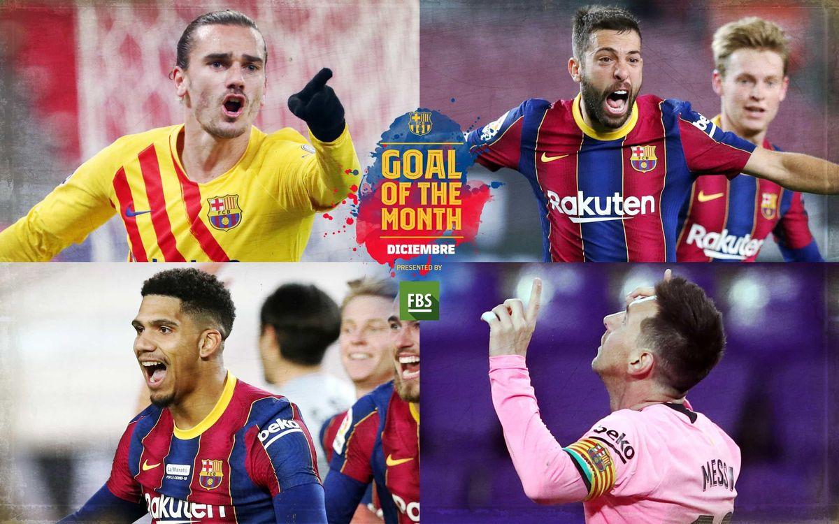 Vota por el 'Goal of the Month' del mes de diciembre