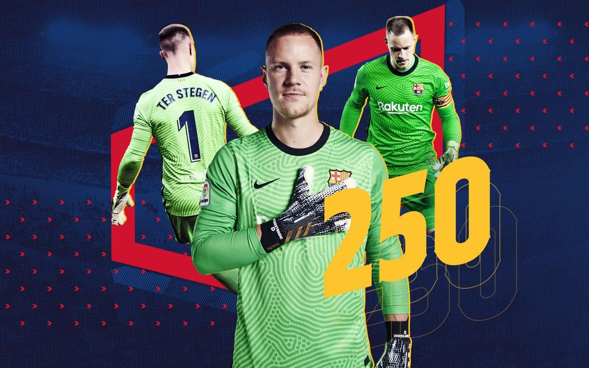 Ter Stegen makes 250th appearance