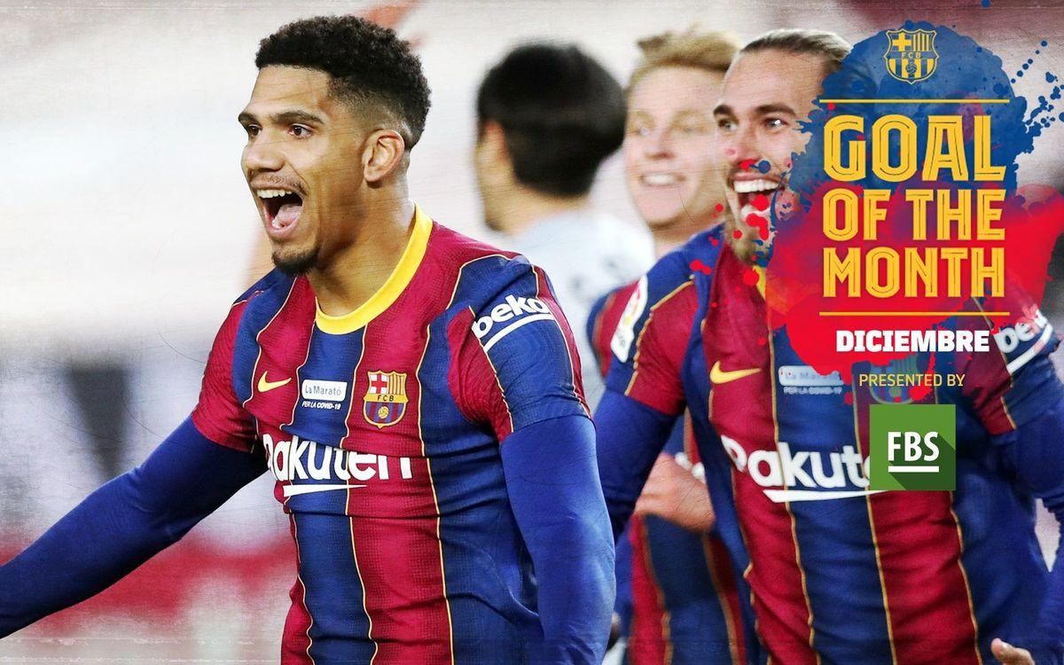El gol de Araujo contra el Valencia, ganador del 'Goal of the Month' de diciembre