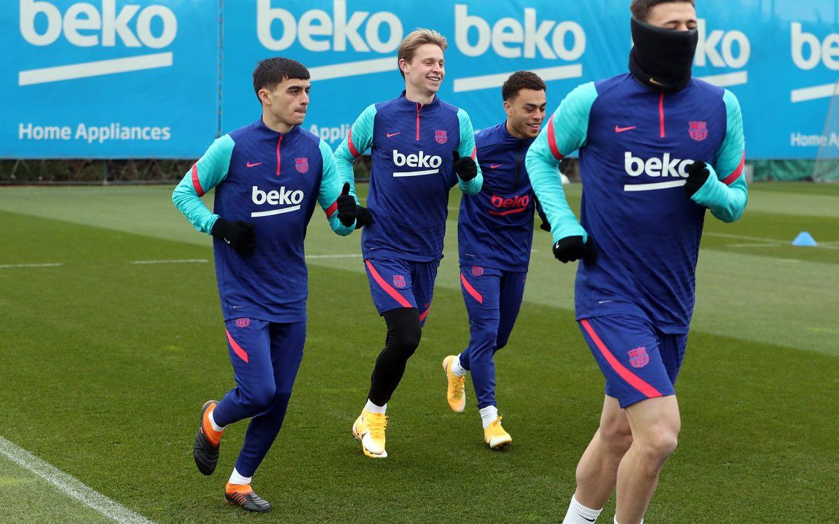 Back at training