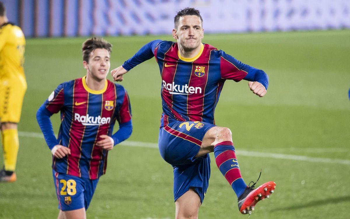 Barça B - Badalona: El 2021 comença amb victòria (4-0)